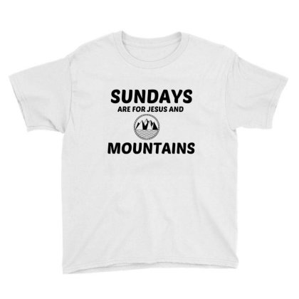 Mountains And Jesus Sunday Youth Tee Designed By Perfect Designers