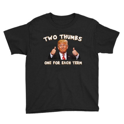 Trump Two Thumbs Up Youth Tee Designed By Kakashop