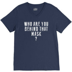 behind the mask V-Neck Tee | Artistshot