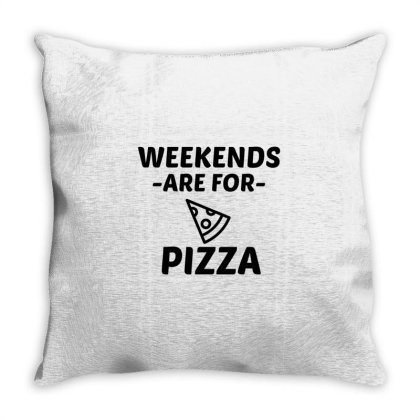 Pizza Weekend Throw Pillow Designed By Perfect Designers