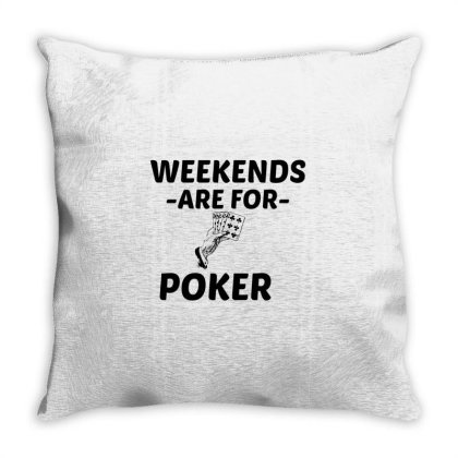 Poker Weekend Throw Pillow Designed By Perfect Designers