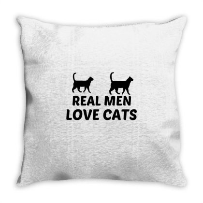 Real Men Love Cats Throw Pillow Designed By Perfect Designers