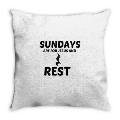 Rest And Jesus Sunday Throw Pillow Designed By Perfect Designers