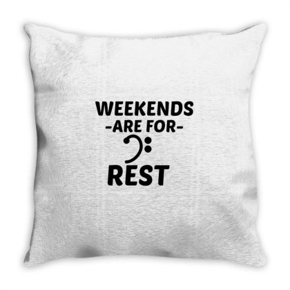 Rest Weekend Throw Pillow Designed By Perfect Designers