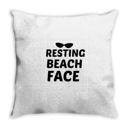 Resting Beach Face Black Throw Pillow Designed By Perfect Designers