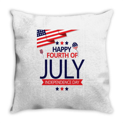 Independence Day Throw Pillow Designed By Tshirtartindia