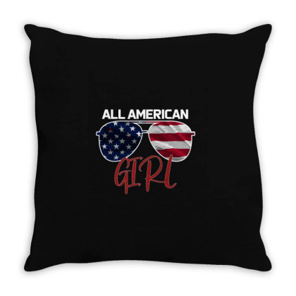 All American Girl Throw Pillow Designed By Bettercallsaul