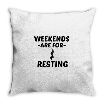 Resting Weekend Throw Pillow Designed By Perfect Designers