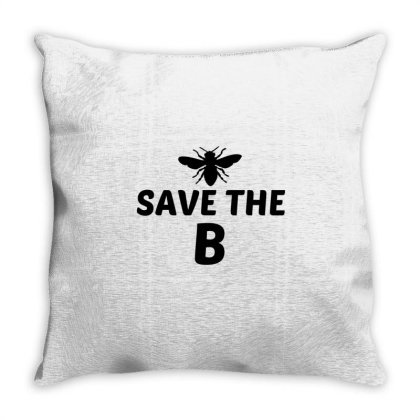Save The B Funny Throw Pillow Designed By Perfect Designers