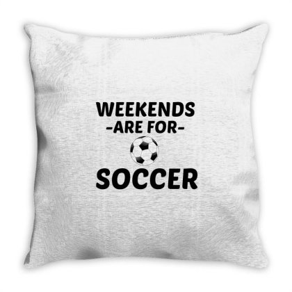 Soccer Weekend Throw Pillow Designed By Perfect Designers
