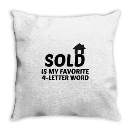 Sold Favorite Word Throw Pillow Designed By Perfect Designers