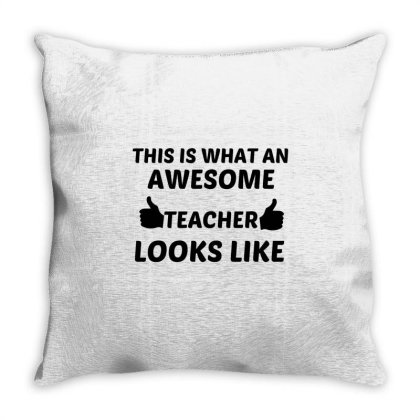 Teacher Awesome Throw Pillow Designed By Perfect Designers