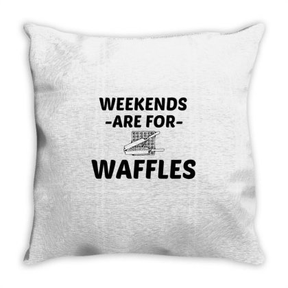 Waffle Weekend Throw Pillow Designed By Perfect Designers