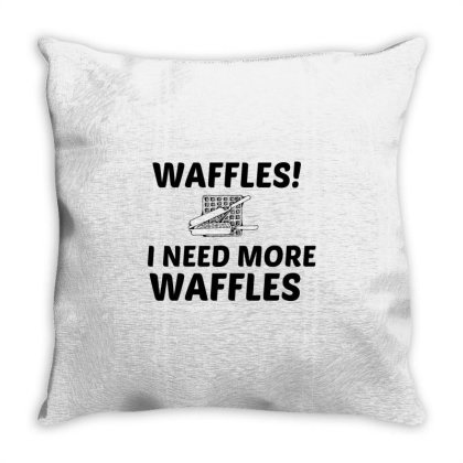 Waffles Needs Throw Pillow Designed By Perfect Designers
