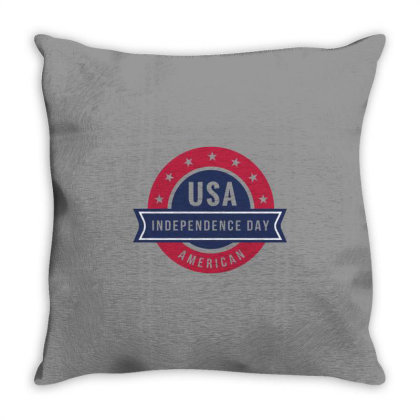Independence Day Throw Pillow Designed By Bakari10