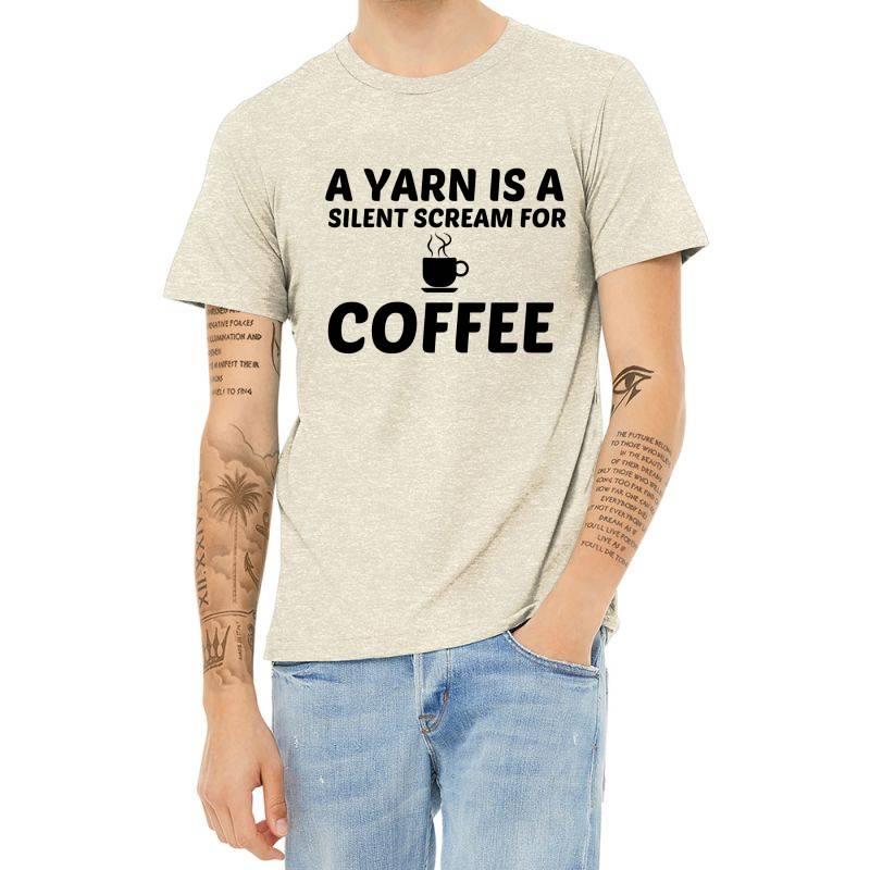 Yarn Silent Scream For Coffee Heather T-shirt | Artistshot