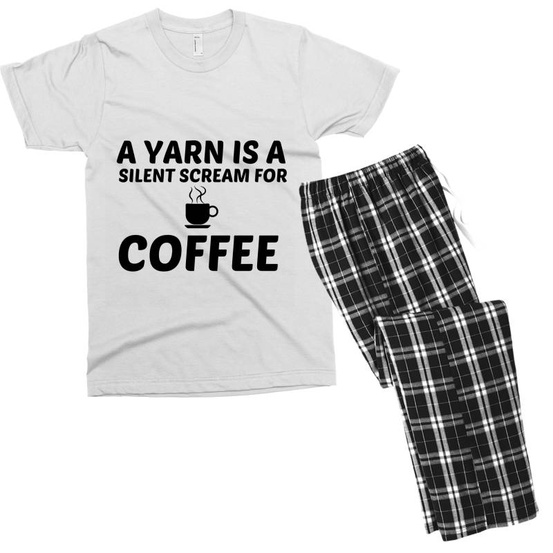Yarn Silent Scream For Coffee Men's T-shirt Pajama Set | Artistshot