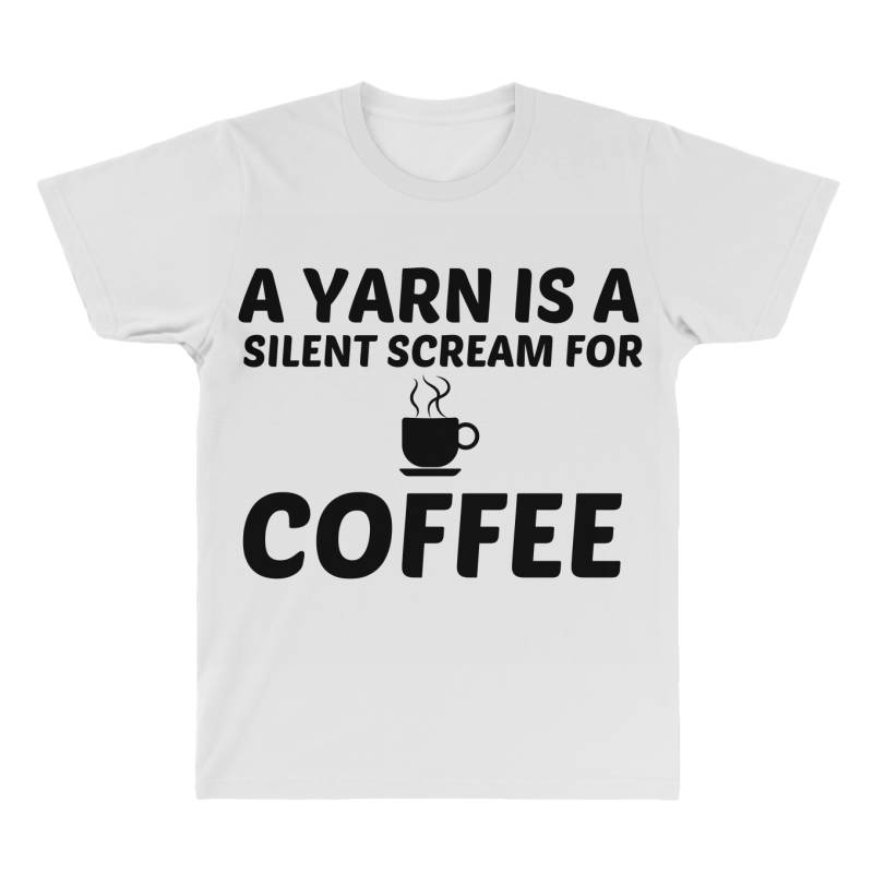 Yarn Silent Scream For Coffee All Over Men's T-shirt | Artistshot