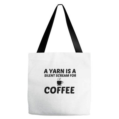 Yarn Silent Scream For Coffee Tote Bags Designed By Perfect Designers