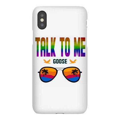 Talk To Me Goose Graphic T Shirt Iphonex Case Designed By Blackstars