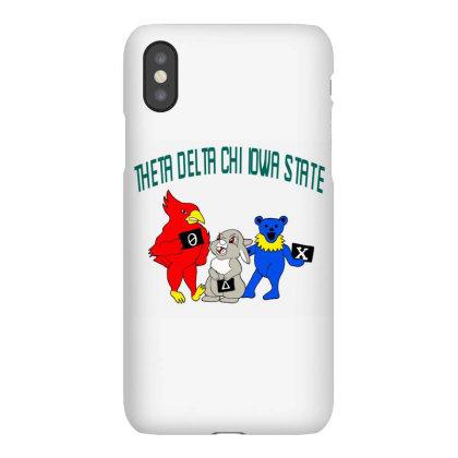 Theta Delta Chi Iowa State Design Tri Blend T Shirt Iphonex Case Designed By Blackstars