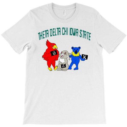 Theta Delta Chi Iowa State Design Tri Blend T Shirt T-shirt Designed By Blackstars