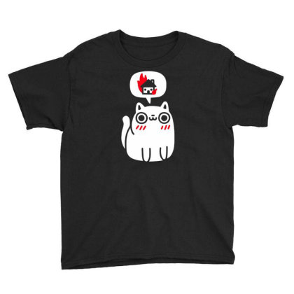 Cat Think House Youth Tee Designed By Kiva27
