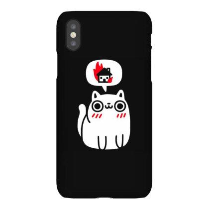 Cat Think House Iphonex Case Designed By Kiva27