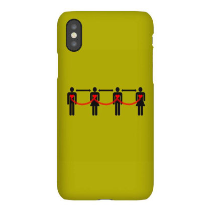 Social Distancing Iphonex Case Designed By Chiks