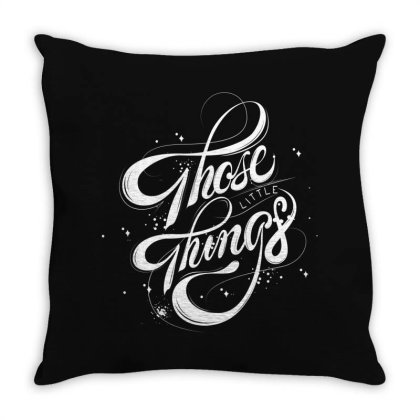 Those Little Things Throw Pillow Designed By Estore
