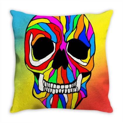 Skull Pride Throw Pillow Designed By Appicleart