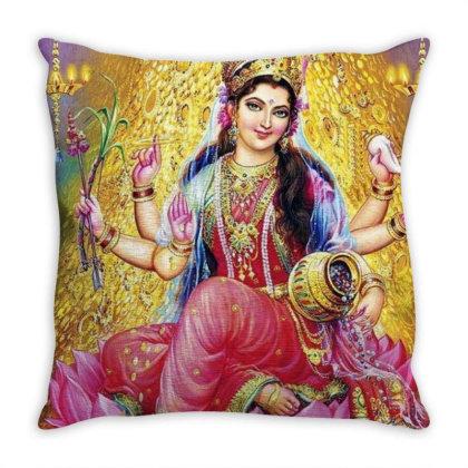 Goddess Lakshmi Throw Pillow Designed By Little Wonders