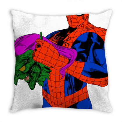 Spider Man Throw Pillow Designed By Appicleart