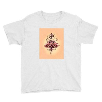 Om Lotus Youth Tee Designed By Little Wonders