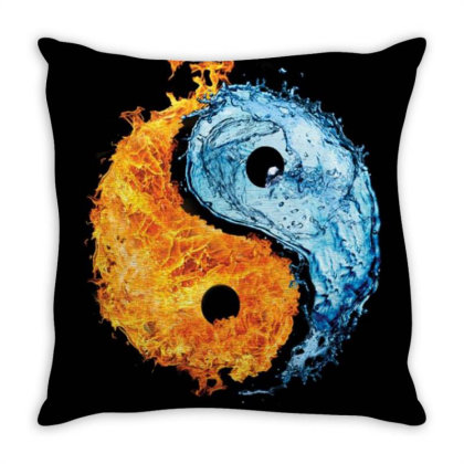 Yin Yang Throw Pillow Designed By Little Wonders