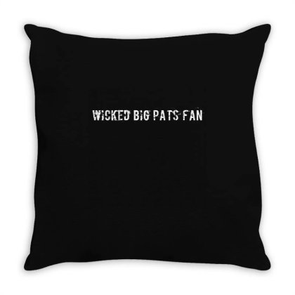 Wicked Big Pats Fan Throw Pillow Designed By Bakari10