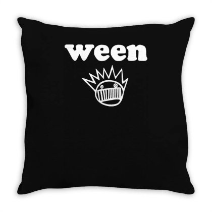 Ween Boognish Grey Throw Pillow Designed By L4l4pow