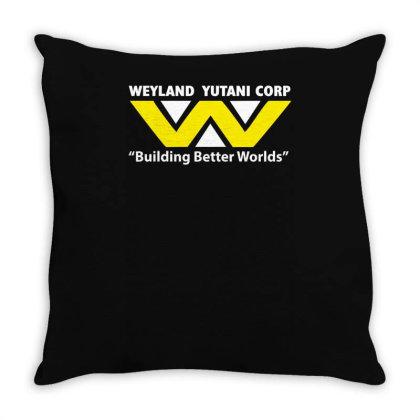 Weyland Yutani Corp Alien Inspired Printed Throw Pillow Designed By L4l4pow