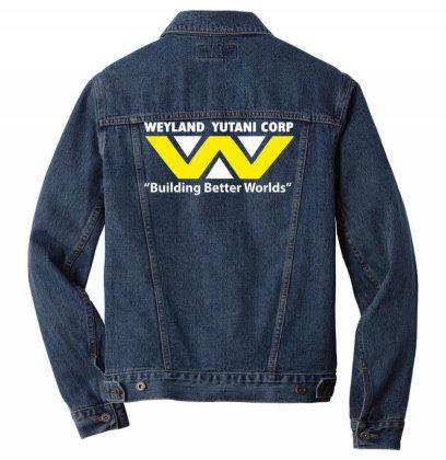 Weyland Yutani Corp Alien Inspired Printed Men Denim Jacket Designed By L4l4pow