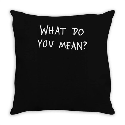 What Do You Mean 2016 Tour (2) Throw Pillow Designed By L4l4pow