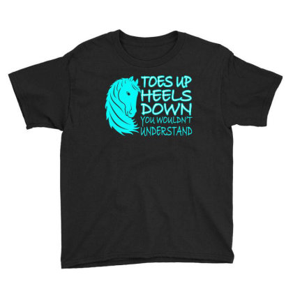 Toes Up Heel Down Youth Tee Designed By Ashlıcar