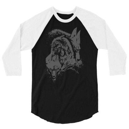 Wolf Princess Warrior 3/4 Sleeve Shirt Designed By Fanshirt