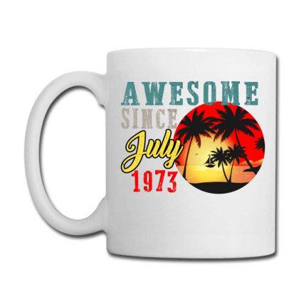 Awesome Since July 1973 Coffee Mug Designed By Iconshop
