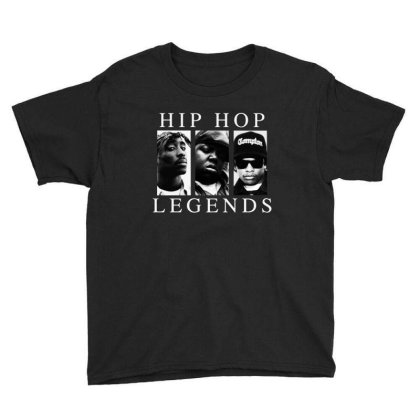 Hip Hop Legends Youth Tee Designed By Domino Tees