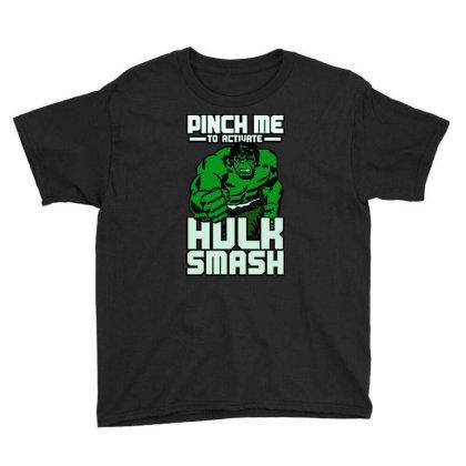 Hulk Smash Youth Tee Designed By Domino Tees
