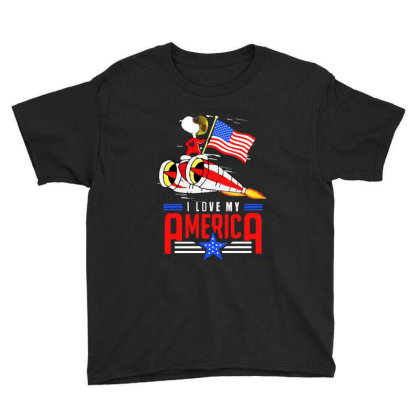 I Love My Funny America Independence Day 4th Of July Youth Tee Designed By Raymod Art