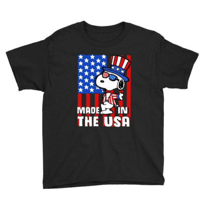 Joe Cool Made In The Usa Independence Day 4th Of July Youth Tee Designed By Raymod Art