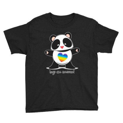 Panda Hugs Youth Tee Designed By Domino Tees