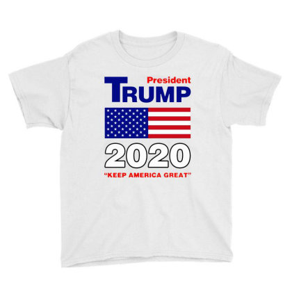 Trump 2020 Youth Tee Designed By Domino Tees