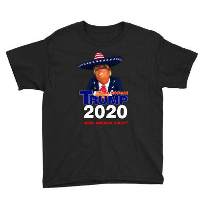 Trump President 2020 Funny Youth Tee Designed By Domino Tees